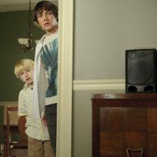 Un'immagine di Nathan Gamble e Chris Massoglia dal film The Hole in 3D