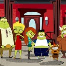 Una scena della serie animata Neighbors from Hell