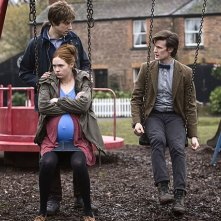 Arthur Darvill, Matt Smith e Karen Gillan in una scena dell'episodio Amy's Choice di Doctor Who