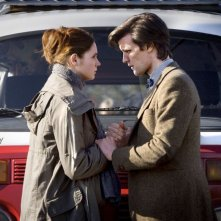 Matt Smith e Karen Gillan nell'episodio Amy's Choice di Doctor Who