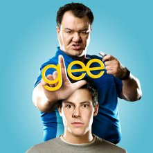 Un wallpaper con Patrick Gallagher e Cory Monteith per la stagione 1 di Glee