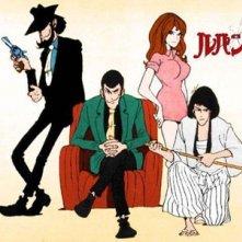 Immagine promo con i personaggi dell\'anime Le avventure di Lupin III