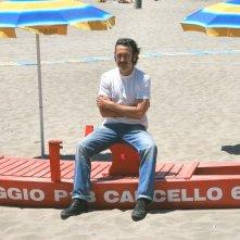 Marco Giallini sul set di Tutti al mare