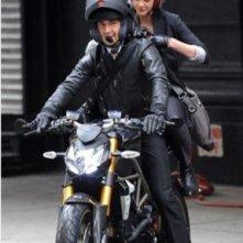 Shia LaBeouf e Carey Mulligan sul set del film Wall Street 2: Money Never Sleeps