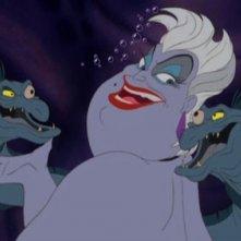 La terribile strega del mare Ursula in una scena de La sirenetta