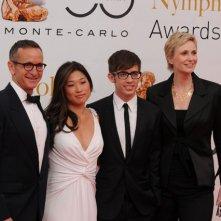 Dante Di Loreto, Jenna Ushkowitz, Kevin McHale e Jane Lynch al Monte Carlo Television Festival 2010