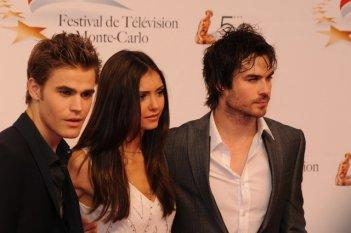 Paul Wesley, Nina Dobrev ed Ian Somerhalder di The Vampire Diaries al Monte Carlo Television Festival 2010