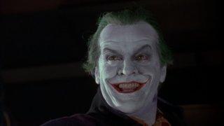 Jack Nicholson è il temibile Joker in una scena del film Batman di Tim Burton
