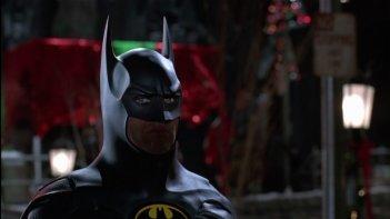 Michael Keaton in una scena del film Batman - il ritorno