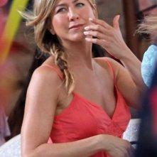 Jennifer Aniston durante le riprese di Just Go With It