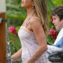 Jennifer Aniston sul set del film Just Go With It