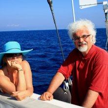 Syusy Blady e Patrizio Roversi nel programma Popoli del mare, in onda su Y&S nel 2010