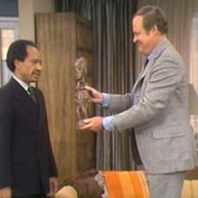 Sherman Hemsley e Franklin Cover nell\'episodio George\'s Family Tree della serie I Jefferson