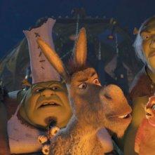 Shrek, Ciuchino e Gatto con gli stivali si ritrovano di nuovo nei guai nel film Shrek e vissero felici e contenti