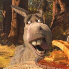 Shrek e l'amico Ciuchino in una scena del film Shrek e vissero felici e contenti