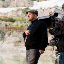 Il regista David Slade durante le riprese del film The Twilight Saga: Eclipse