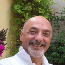 Umberto Bortolani (Dott.Salingheri) in pausa tra un ciak e l'altro sul set di Goodbye Mr.Zeus!