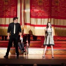 Cory Monteith e Lea Michele durante l'esibizione nell'episodio Journey di Glee