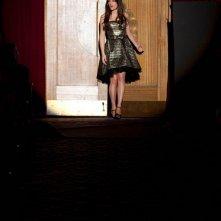 Lea Michele durante un'interpretazione nell'episodio Journey di Glee