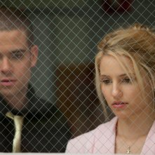 Puck (Mark Salling) e Quinn (Dianna Agron) all'ospedale nell'episodio Journey di Glee