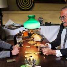 Francesco Venditti con Franco Califano nella serie televisiva Roma nuda