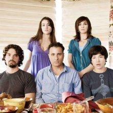 Il cast di City Island: Steven Strait, Julianna Margulies, Ezra Miller, Dominik Garcia-Lorido ed Andy Garcia