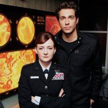 Bonita Friedericy e Zachary Levi in una foto promo per l'episodio Chuck Versus the Subway