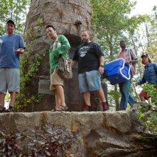 Adam Sandler, Rob Schneider, Kevin James, Chris Rock e David Spade, protagonisti di Un weekend da bamboccioni