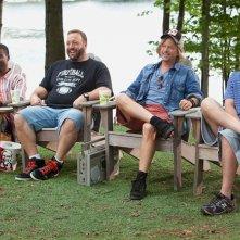 Chris Rock, Kevin James, David Spade e Adam Sandler nel film Un weekend da bamboccioni