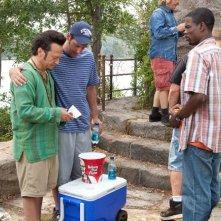 Rob Schneider, Adam Sandler e Chris Rock in una scena del film Un weekend da bamboccioni