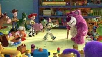 I personaggi del film Toy Story 3 s'incontrano per la prima volta al Sunnyside