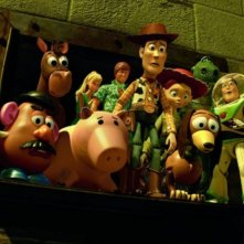 I protagonisti del film Toy Story 3 tentano la fuga