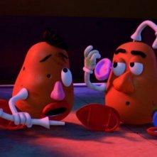 Mr. e Mrs. Potato in una scena di Toy Story 3