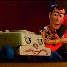 Telefono Chiacchierone e Woody in un'immagine diToy Story 3