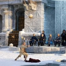 Una sequenza del film The Last Airbender con con Aang (Noah Ringer)