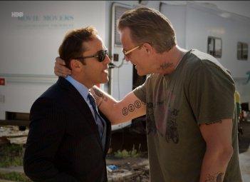 Nick Cassavetes e Jeremy Piven nell'episodio Stunted di Entourage
