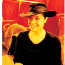 Praga: Lorenza Caroleo durante una pausa di Parabolàno, regia di Antonio Orfanò