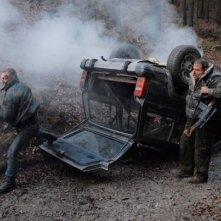 Ottaviano Blitch e Chris Coppola nella scena dell\'incidente di Shadow - L\'ombra