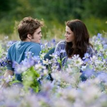 Una nuova foto di Robert Pattinson e Kristen Stewart nella radura fiorita in The Twilight Saga: Eclipse