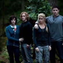 Una sequenza del film The Twilight Saga: Eclipse con Ashley Greene, Jackson Rathbone, Nikki Reed e Kellan Lutz