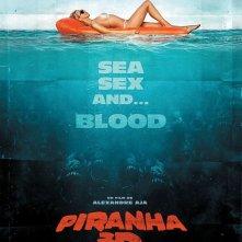 Poster francese in stile vintage per Piranha 3D