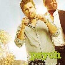 Un poster della stagione 5 di Psych