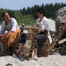 Neve Campbell in una scena della miniserie TV Sea Wolf