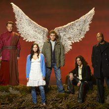 Bryan Cranston, Fernanda Andrade, Paul Wesley, Hal Ozsan e Rick Worthy per il film tv Angeli caduti