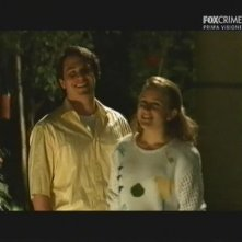 Giacomo Carolei insieme a Tiziana Di Marco in una scena della miniserie Il mostro di Firenze