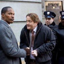 Jamie Foxx e Christian Stolte in una scena del film Law Abiding Citizen