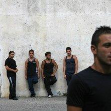 Andrea Iervolino nella scena del penitenziario in Prigioniero di un segreto