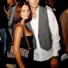 Giulio Berruti e Anna Safroncik nel 2008 alla sfilata di Cavalli