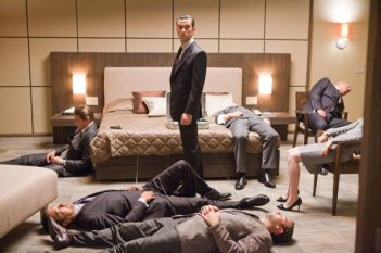 Joseph Gordon-Levitt in una scena del film Inception