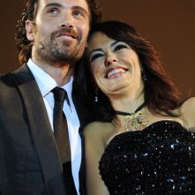 Maria Grazia Cucinotta con Luca Calvani a Taormina, nel 2010
